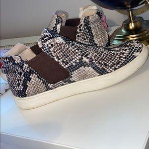 Coconuts by Matisse snakeskin slip-on sneakers
